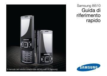 Samsung GT-I8510/16 - Quick Guide_3.13 MB, pdf, ITALIAN