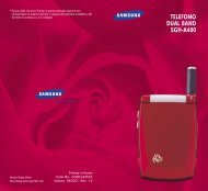 Samsung SGH-A400LA - User Manual_0.75 MB, pdf, ITALIAN