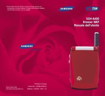 Samsung SGH-A400LA - WAP Guide_0.16 MB, pdf, ITALIAN