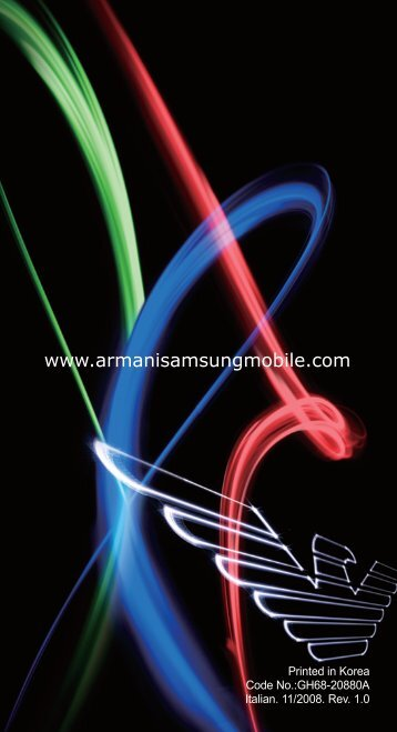 Samsung Samsung Emporio Armani - User Manual_13.37 MB, pdf, ITALIAN