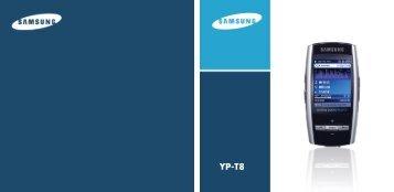Samsung YP-T8Z - User Manual_6.54 MB, pdf, ENGLISH