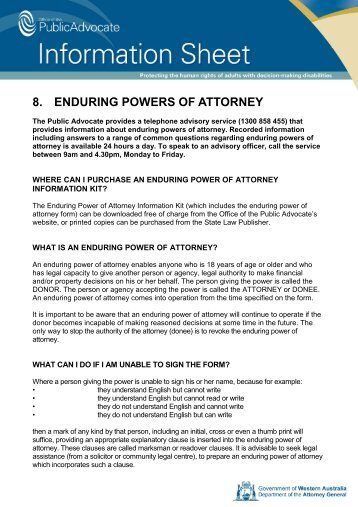 Enduring Power Of Attorney Megadox