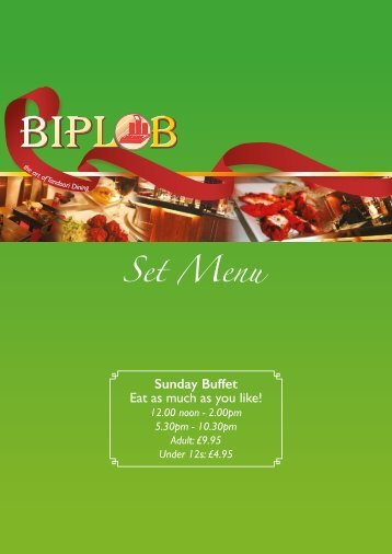 Sunday Buffet Eat as much as you like!