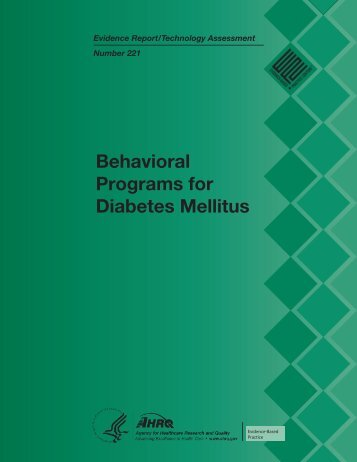 Behavioral Programs for Diabetes Mellitus