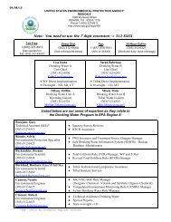 Region 8 Drinking Water Unit Contact List (PDF) - US Environmental ...