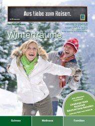 EDEKA Reisemagazin Winterträume Dezember 2015