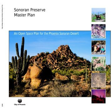 Sonoran Preserve Master Plan - City of Phoenix