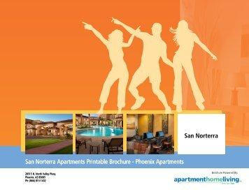 San Norterra Apartments Printable Brochure - Apartments For Rent