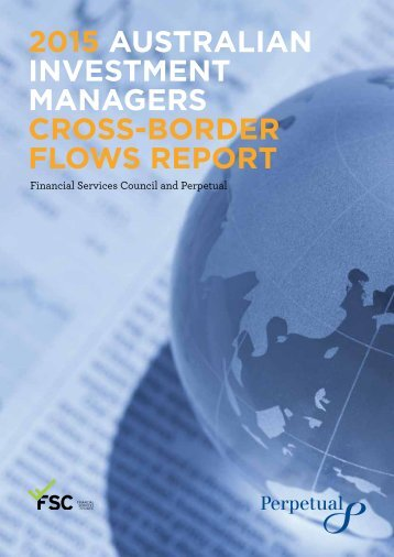 2015 AUSTRALIAN INVESTMENT MANAGERS CROSS-BORDER FLOWS REPORT