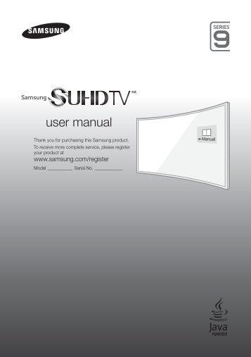 "Samsung TV 55"" SUHD 4K Curvo Smart JS9000 Serie 9 - Quick Guide_11.67 MB, pdf, ENGLISH, GERMAN, ITALIAN"