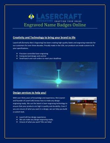 Engraved Name Badges Online