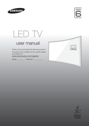 "Samsung TV 48"" Full HD Curvo Smart J6300 Serie 6 - Quick Guide_11.68 MB, pdf, ENGLISH, GERMAN, ITALIAN"