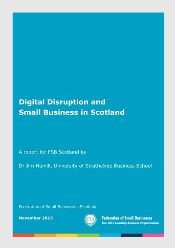 Digital Disruption and Small Business in Scotland