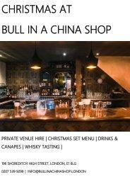 CHRISTMAS AT BULL IN A CHINA SHOP