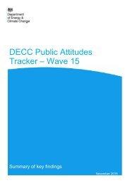 DECC Public Attitudes Tracker – Wave 15