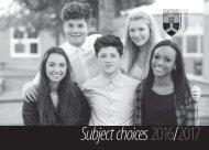 Subject choices 2016/2017