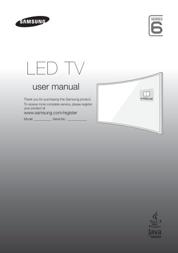 "Samsung TV 32"" Full HD Curvo Smart J6300 Serie 6 - Quick Guide_11.68 MB, pdf, ENGLISH, GERMAN, ITALIAN"