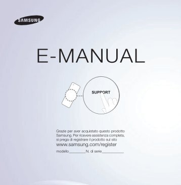 "Samsung SMART TV 46"" ES5500 Full HD LED - User Manual_4.12 MB, pdf, ITALIAN"