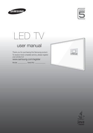 "Samsung TV 43"" Full HD Flat Smart J5500 Serie 5 - Quick Guide_10 MB, pdf, ENGLISH, GERMAN, ITALIAN"