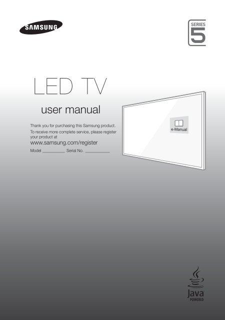 Samsung Tv Serie 5 Bedienungsanleitung