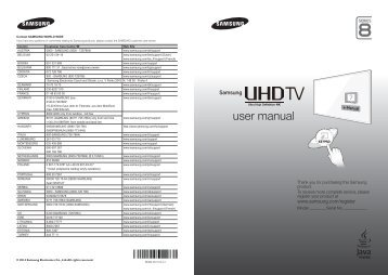 "Samsung TV 65"" UHD 4K Curvo Smart HU8500 Serie 8 - Quick Guide_14.76 MB, pdf, ENGLISH, GERMAN, ITALIAN"