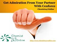 Get Admiration From Your Partner With Cenforce