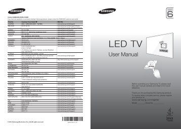 "Samsung TV 55"" Full HD Flat Smart H6400 Serie 6 - Quick Guide_13.41 MB, pdf, ENGLISH, GERMAN, ITALIAN"