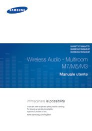 Samsung Wireless Audio-Multiroom WAM750 - User Manual(Web)_47.88 MB, pdf, ITALIAN