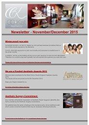 Newsletter - November/December 2015