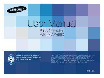Samsung WB650 - Quick Guide_3.66 MB, pdf, ENGLISH, TURKISH
