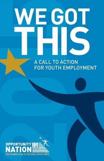 A CALL TO ACTION FOR YOUTH EMPLOYMENT