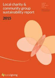 Local charity & community group sustainability report 2015