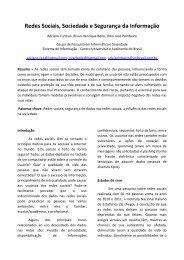 Redes Sociais Sociedade e Segurança da Informação