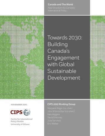 Canada's Engagement with Global Sustainable Development