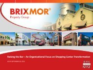 Raising the Bar – An Organizational Focus on Shopping Center Transformation