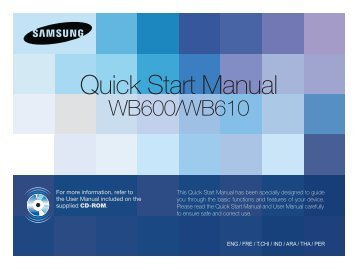 Samsung WB600 - Quick Guide_9.37 MB, pdf, ENGLISH, ARABIC, CHINESE, FRENCH, INDONESIAN, PERSIAN, THAI