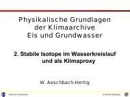GMWL - Institut für Umweltphysik - Universität Heidelberg