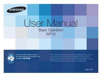 Samsung ST60 - Quick Guide_3.6 MB, pdf, ENGLISH, TURKISH
