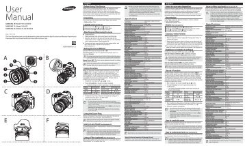 Samsung Obiettivo Zoom Tele 50-200mm - User Manual_0.01MB, pdf, ENGLISH, FRENCH