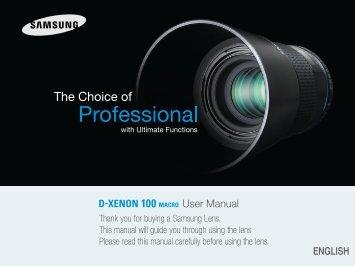 Samsung GX 100mm Macro - User Manual_1.63 MB, pdf, ENGLISH