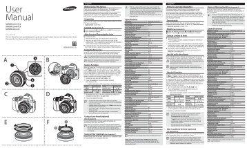 Samsung Obiettivo a lunghezza focale fissa grandangolare da 20 mm F 2,8 - User Manual_0.01MB, pdf, ENGLISH, FRENCH