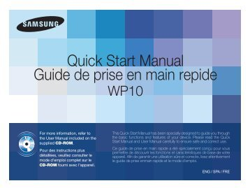 Samsung ST60 - Quick Guide_4.65 MB, pdf, ENGLISH, FRENCH, SPANISH