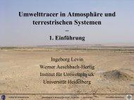 Umwelttracer in Atmosphäre und terrestrischen Systemen – 1 ...