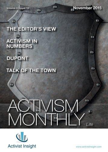 ACTIVISM MONTHLY