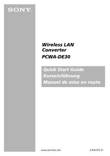 Sony PCWA-DE30 - PCWA-DE30 Istruzioni per l'uso Tedesco