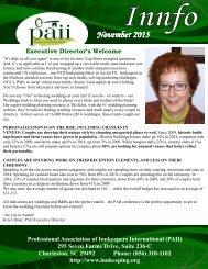 PAII Newsletter November 2015