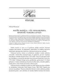 vēsture - Latvijas Valsts Arhīvu sistēma
