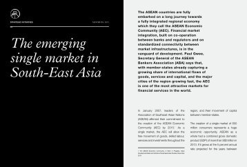The emerging single market in South-East Asia