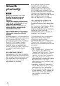 Sony MRW68E-D1 - MRW68E-D1 Istruzioni per l'uso Turco - Page 2