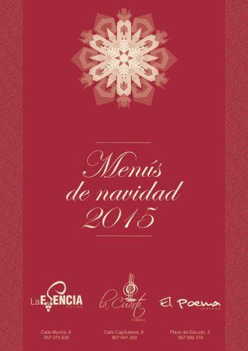 Menús de navidad 2015